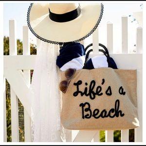 Large Beach or Pool Bag Tote Bag Woven Fabric